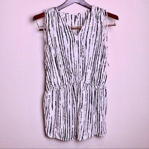 IRO sleeveless tunic in striped patterns